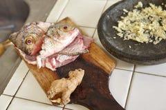 Fisk och kryddor Royaltyfria Foton
