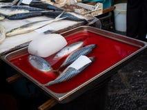 Fisk på fiskmarknad Arkivbild