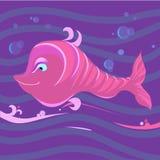 Fisk på vågor Royaltyfri Fotografi