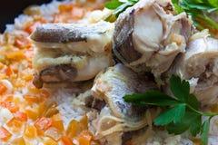 Fisk & rice arkivbild
