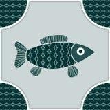 Fisk som isoleras i en ram Arkivfoton