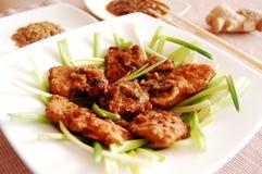 fisk stekt laos stil Arkivbilder