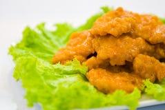 fisk stekt styckgrönsak Royaltyfria Foton