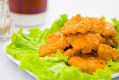 fisk stekt styckgrönsak Royaltyfri Foto