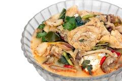 Fisk Tom Yam (thailändsk kokkonst) Arkivbilder