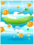 Fisk ut ur vatten Royaltyfria Bilder