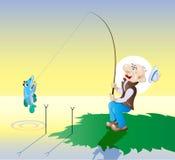 Fiska vektor illustrationer