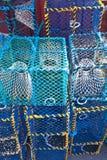 Fiska fällor Royaltyfria Bilder