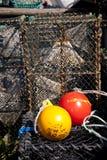 Fiska fällor Arkivfoto