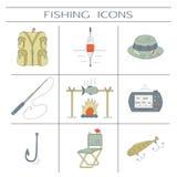 Fiska färgsymboler Arkivfoton
