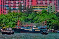 fiska för aberdeen fartyg Fotografering för Bildbyråer