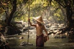 Fiska för barn Fotografering för Bildbyråer