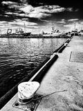 fiska för fartyg Konstnärlig blick i svartvitt Royaltyfri Foto