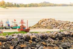 fiska för fartyg som är litet Fotografering för Bildbyråer