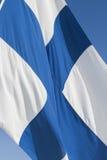 Fińska flaga Zdjęcia Stock