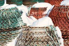 Fiska fällor Royaltyfria Foton