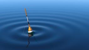 fiska float Arkivfoto