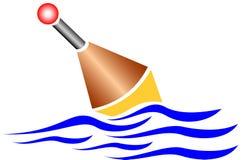 fiska float royaltyfri illustrationer