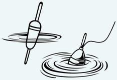 fiska float vektor illustrationer