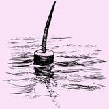 fiska float stock illustrationer