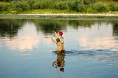 fiska fluga Royaltyfri Bild