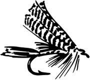 Fiska fluga 6 royaltyfri illustrationer