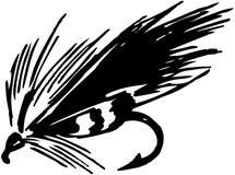 Fiska fluga 5 royaltyfri illustrationer