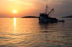 fiska gå till Royaltyfri Bild