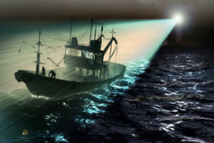 fiska gå ut Arkivbilder