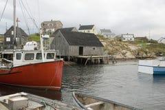 fiska hamn Arkivbild