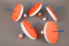 Fiska handgjorda tillförsel Rundarullar för att fiska Runt polystyren köar rullar för att fiska Royaltyfria Bilder
