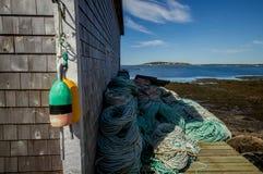 Fiska hyddan, Nova Scotia Royaltyfri Bild