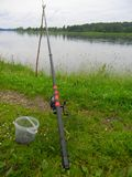 Fiska i floden Royaltyfri Fotografi