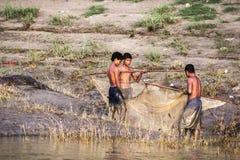 Fiska i floden Arkivfoton