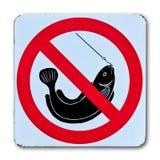 fiska ingen teckenvarning Royaltyfria Bilder