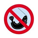fiska ingen teckenvarning Royaltyfri Bild