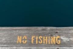 fiska ingen teckenvarning Arkivfoto