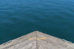 fiska ingen teckenvarning Arkivfoton
