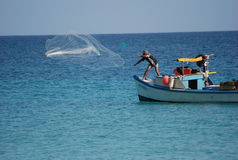 fiska jägaren Royaltyfria Bilder