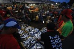 fiska marknaden Arkivfoton
