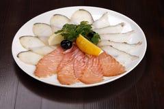 fiska meatplattan Fotografering för Bildbyråer
