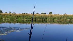 Fiska med ljuden av naturen lager videofilmer