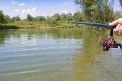 Fiska med stången royaltyfri fotografi