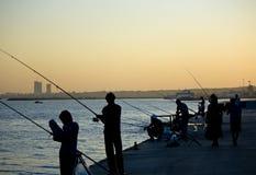 Fiska på istanbul Royaltyfri Fotografi