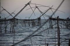 Fiska på Phatthalung, Thailand Royaltyfri Bild