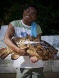 fiska roligt royaltyfri bild