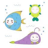 fiska roligt stock illustrationer