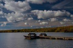 Fiska skeppsdockan på Washburn, Wisconsin royaltyfri bild