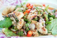 Fiska stekmat, den lagade mat stekfisken, mat Royaltyfri Foto