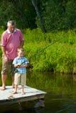 fiska tillsammans Royaltyfria Bilder